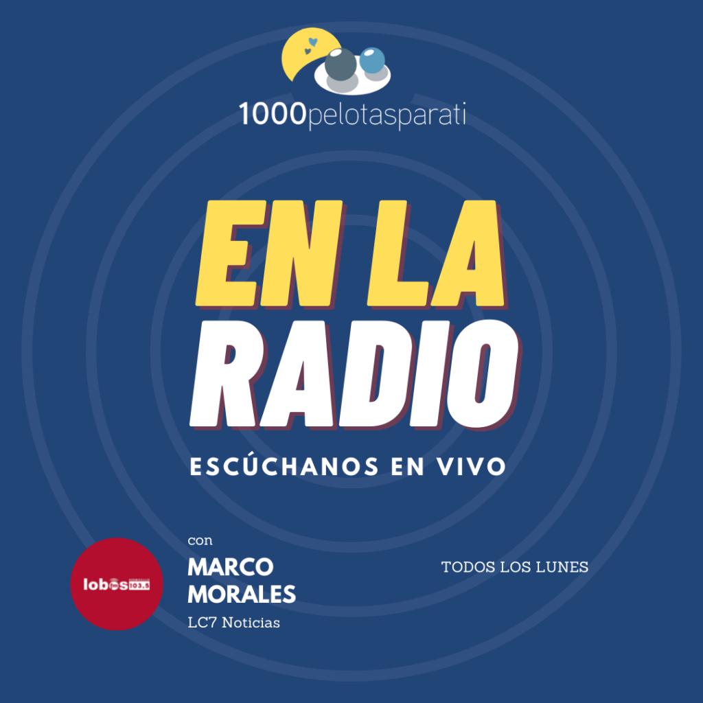En la Radio. Colaboración del colectivo de 1000Pelotasparati en el programa de radio LC7 Noticias con Marco Morales